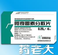 双鹤药业阿奇霉素分散片